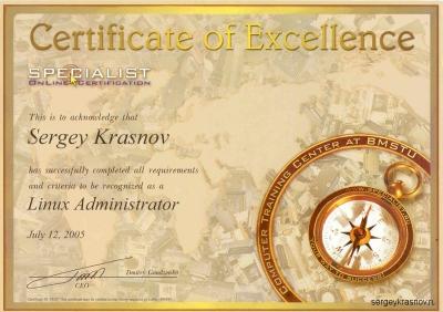 Linux Administrator - Sergey Krasnov